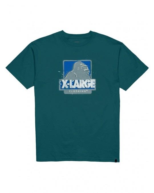 X-Large Stencil T-Shirt - Petrol