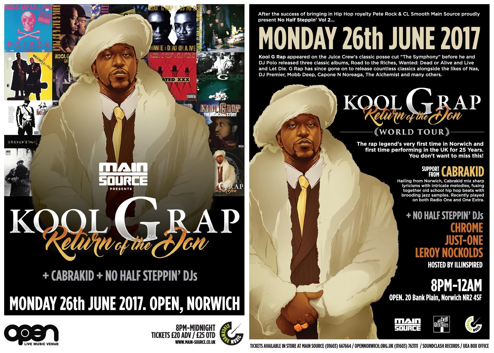 Kool G Rap Norwich