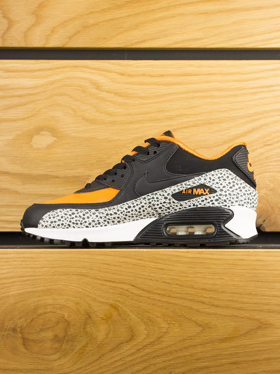 Nike Air Max 90 (GS) Safari White Black Clay Orange