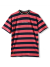 Butter Goods Jacquard Stripe T-Shirt - Coral Navy