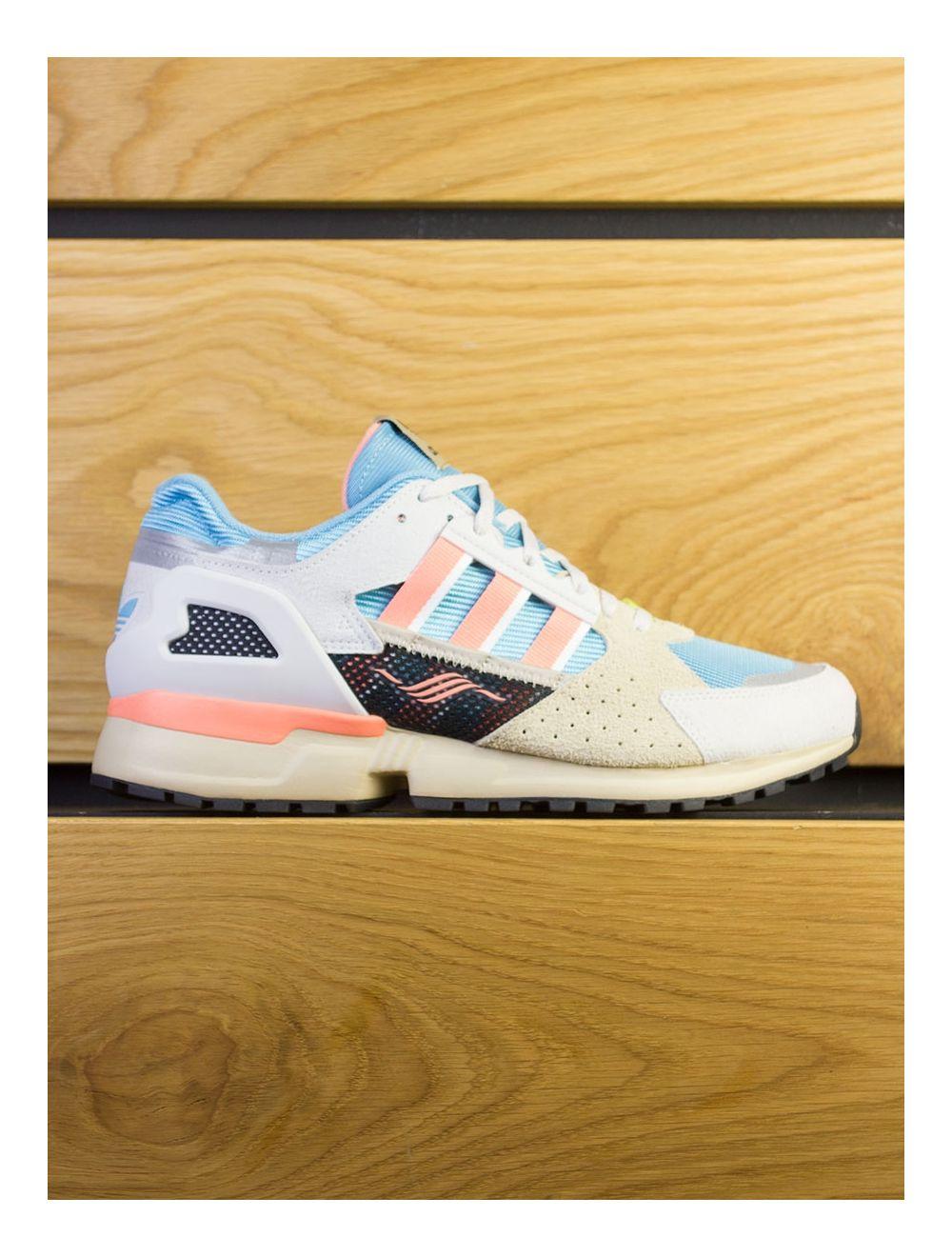 new product b7ac8 780a5 Adidas Consortium ZX 10,000 C Supercolour - Grey Blue Coral Orange