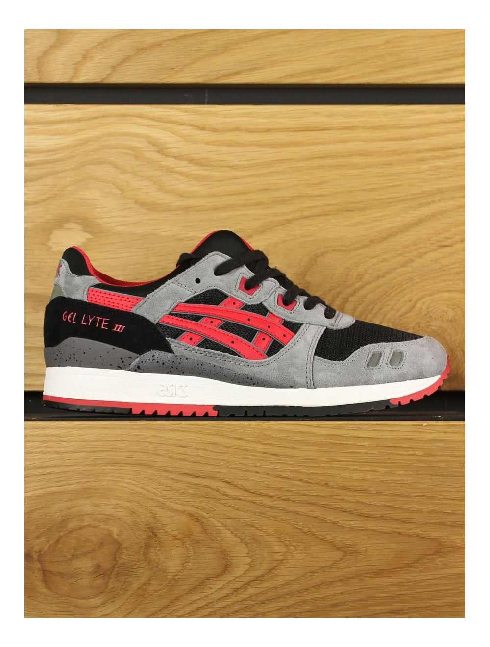 various colors fed5c 2a6bc Asics Gel-Lyte III 'Black/Classic Red'