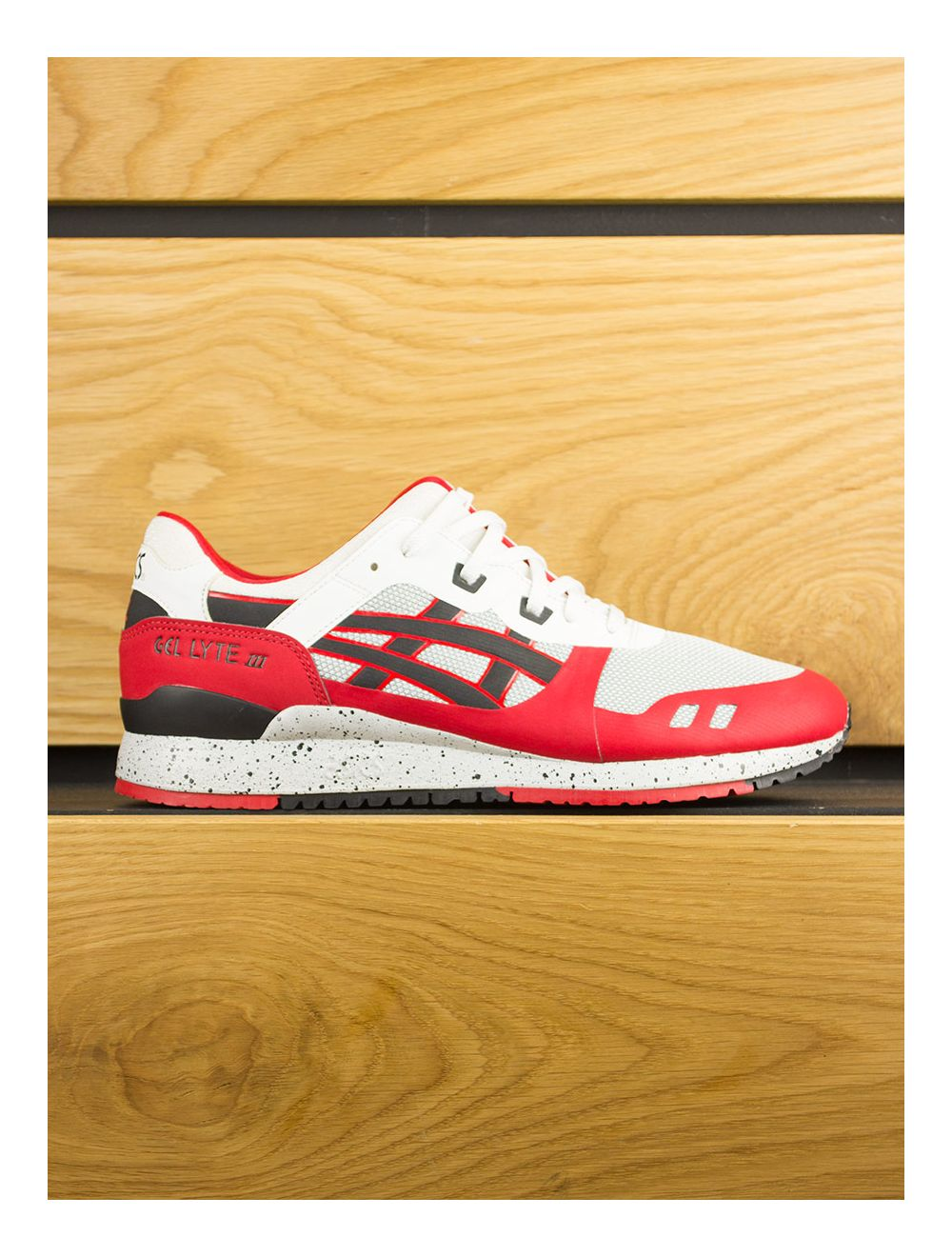 pick up fb225 b1ddf Asics Gel-Lyte III NS - White Black Red