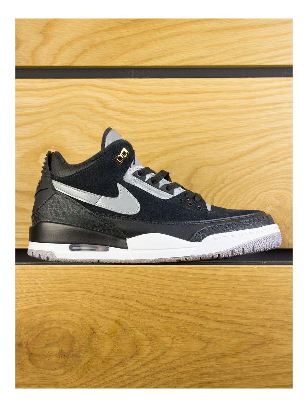 new style 4ab53 67c12 Nike Air Jordan Retro 3 Tinker Hatfield - Black Cement Grey