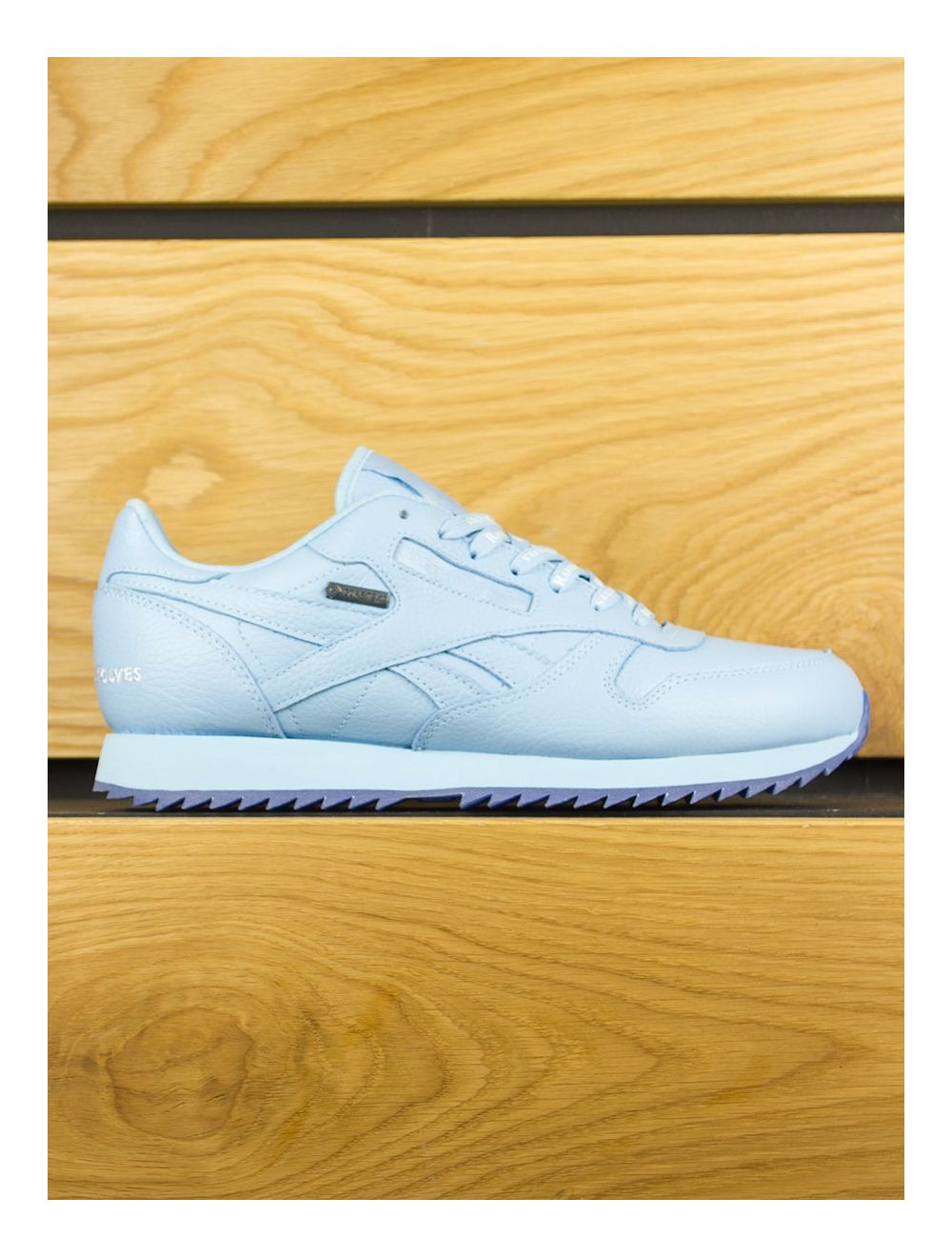 White Reebok By Gore Blue Classic X Tex Cape Raised Wolves Ripple Leather Ice 1JTK3culF5